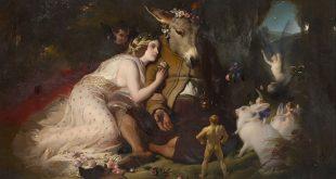 SONHO DE UMA NOITE DE VERÃO Edwin Landseer, Scene from A Midsummer Night's Dream. Titania and Bottom, 1851