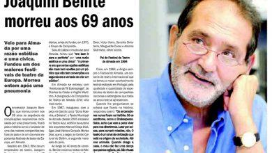Joaquim Benite morreu aos 69 anos