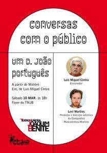 Luis Miguel Cintra é um dos convidados da próxima Conversa com o público